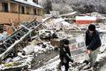 Después del terremoto y del tsunami llega la nieve para complicar todo en Fukushima