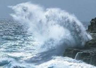 Las olas y el viento, en pleno crecimiento