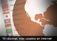 10 idiomas más usados en internet