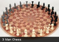 Te presentamos el 3 Man Chess, ajedrez circular para 3 jugadores