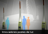 Innovadores postes de luz que funcionan con basura