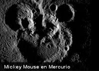 NASA descubre figura de Mickey Mouse en la superficie de Mercurio (+Imagen)