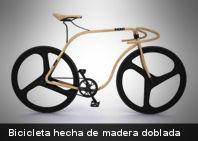 Te presentamos una curiosa bicicleta hecha de madera doblada