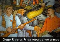 ¿Conoces este cuadro? Frida repartiendo armas – Diego Rivera