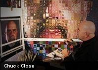 ¡Ver para creer! El impresionante arte de Chuck Close, quedar parapléjico no fue un obstáculo