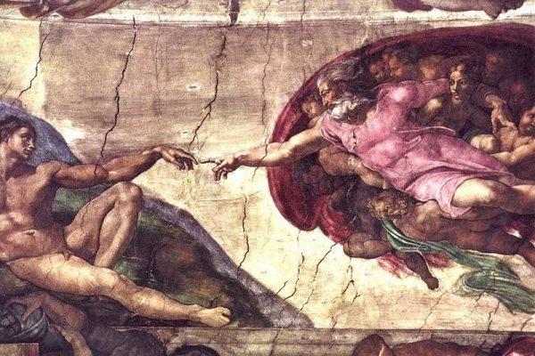 ¿Conoces esta pintura? La creación de Adán, en la Capilla Sixtina