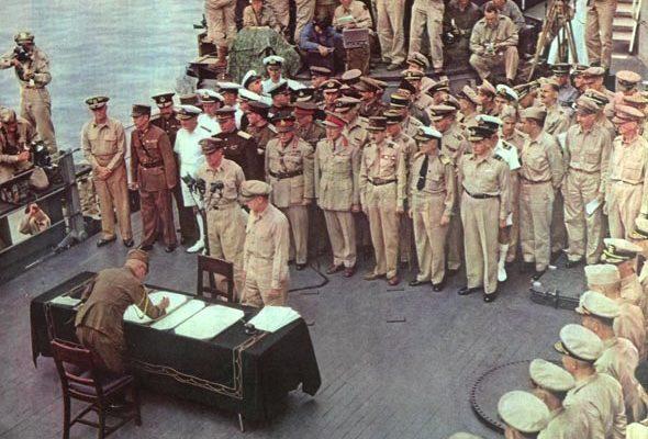 La incondicional rendición de Japón en la II Guerra Mundial
