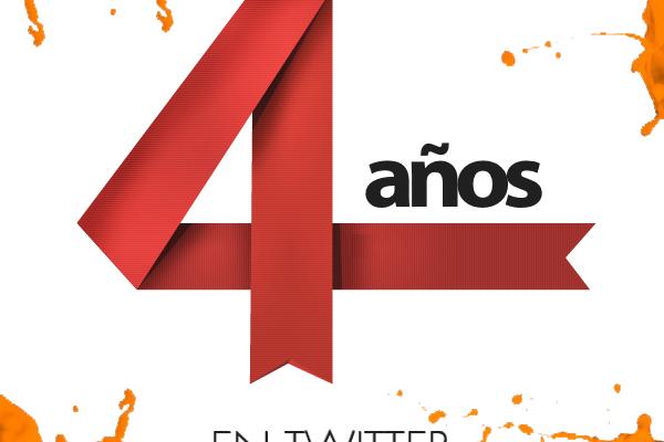 Hoy @Culturizando cumple 4 años en Twitter #AniversarioCulturizando