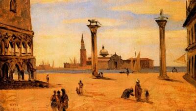 Obras deCamille Corot - Venecia, La Piazzetta