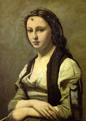 Obras deCamille Corot - Mujer con una perla