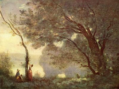Obras deCamille Corot - Recuerdo de Mortefontaine