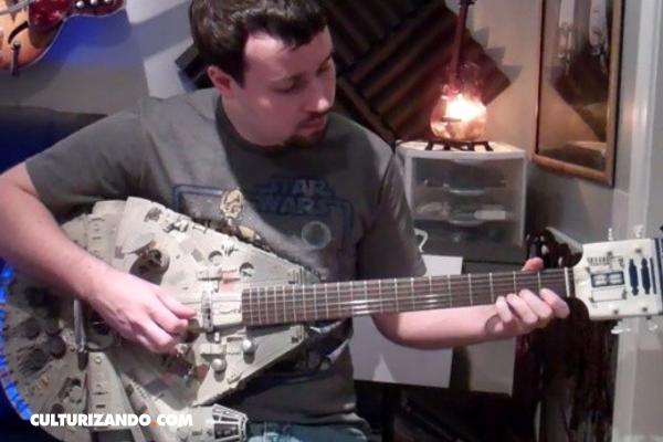 La Nota Curiosa: La guitarra eléctrica con la forma del Halcón Milenario de Star Wars