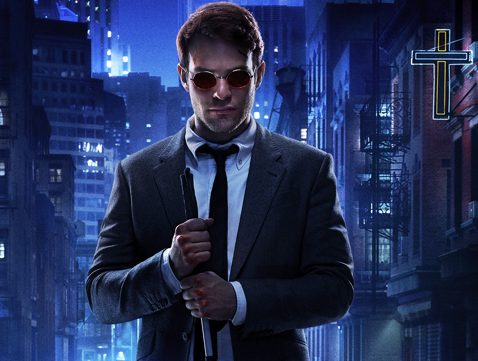 Charlie Cox In Marvel Daredevil Netflix Tv Series Poster