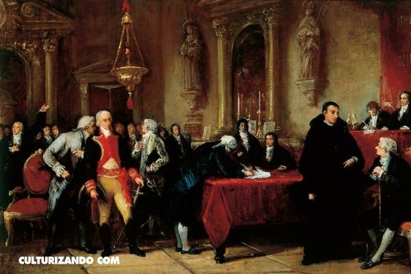 Firma del acta de la independencia de Venezuela