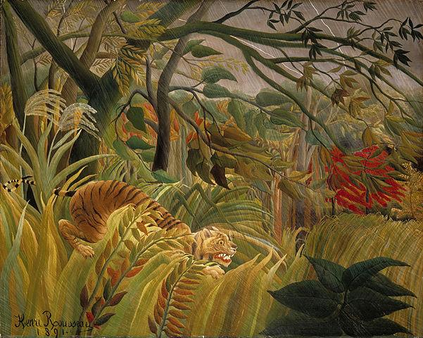 Henri Rousseau - Tigre en una tormenta tropical, 1891
