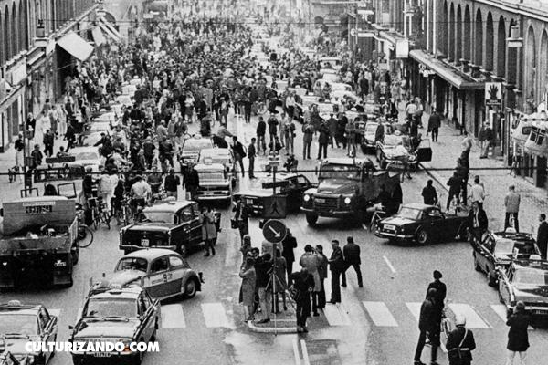Högertrafikomläggningen: El día que Suecia cambió el sentido de circulación