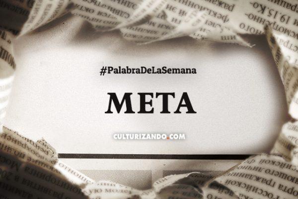 Palabra de la semana: «Meta» (+ Frases)