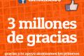 Gracias a tu apoyo alcanzamos 3 millones de seguidores en Facebook en @Culturizando