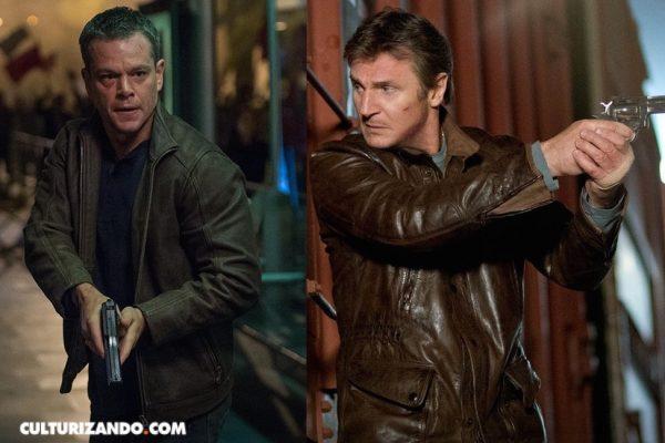 Liam Neeson y Matt Damon en 'Isle of man'