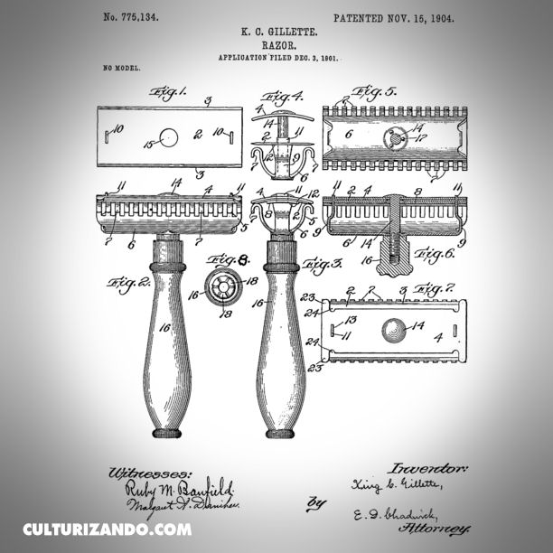 12-02-king-camp-gillette-introduce-la-patente-de-la-primera-maquina-de-afeitar-de-hojas-desechables