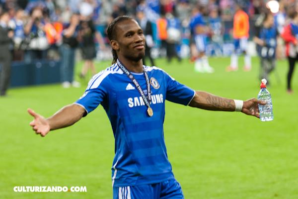 Didier Drogba el jugador de marfil