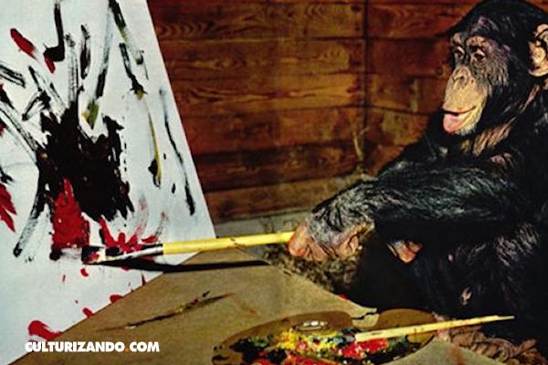 El chimpancé que burló a los mejores críticos de arte