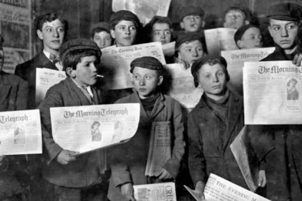 La increíble historia de los niños que paralizaron la venta de periódicos en Nueva York