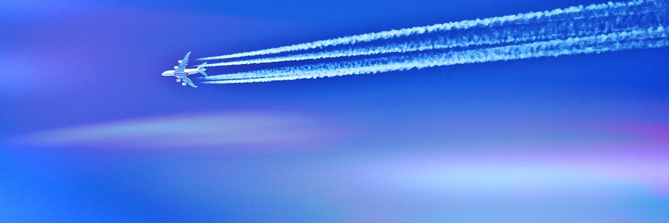 estela de los aviones