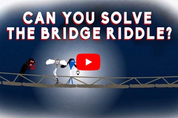 ¿Crees que puedas resolver el acertijo del puente?