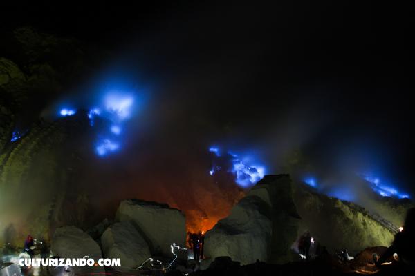 Kawah Ijen, el volcán que arroja lava azul