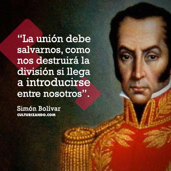 Frases de Simon Bolivar