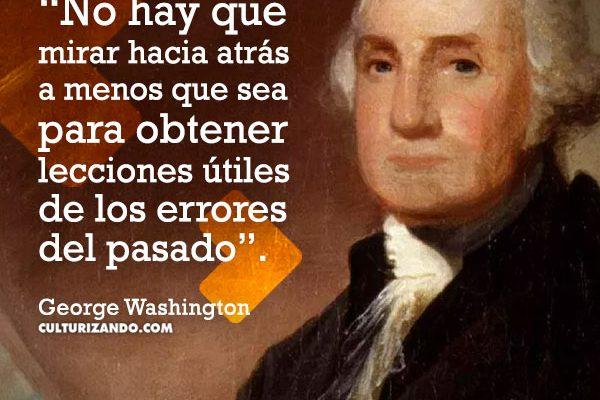 10 frases de George Washington
