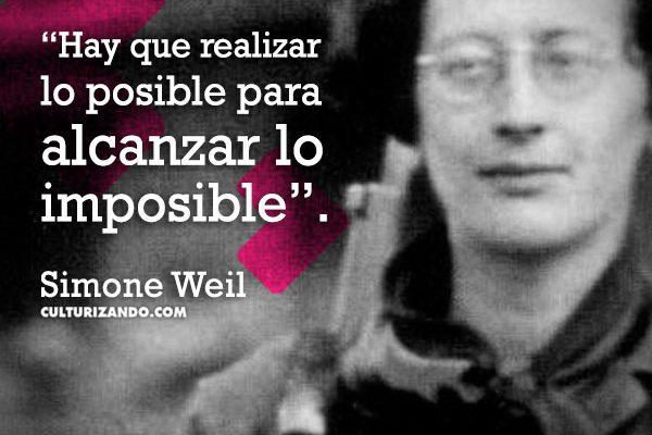 Simone Weil, filósofa y mística (+Frases)
