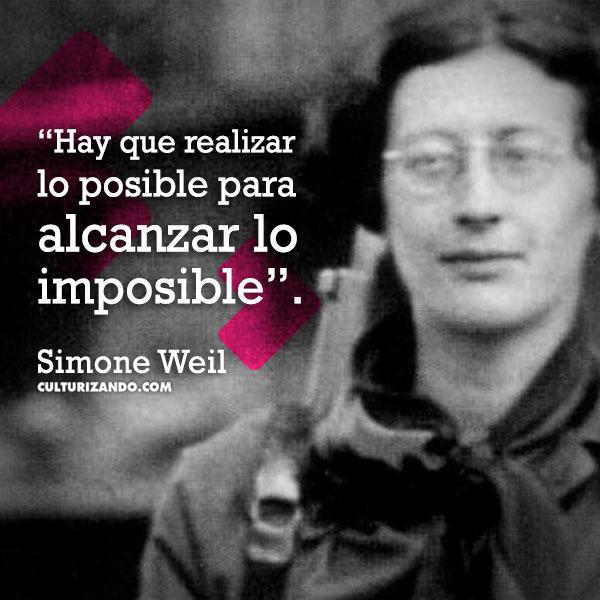 frases de Simone Weil
