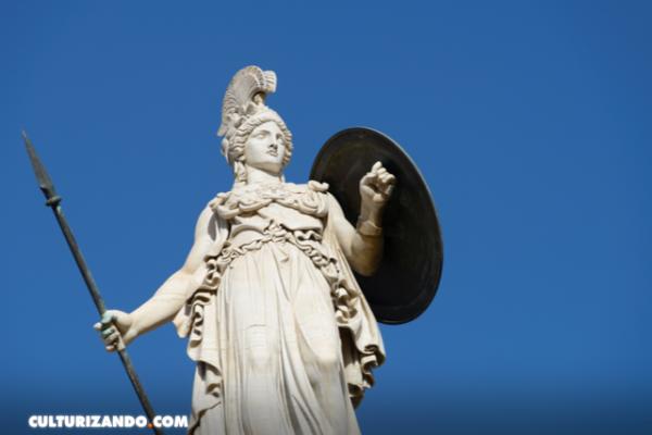 La diosa Atenea y su nacimiento de Zeus