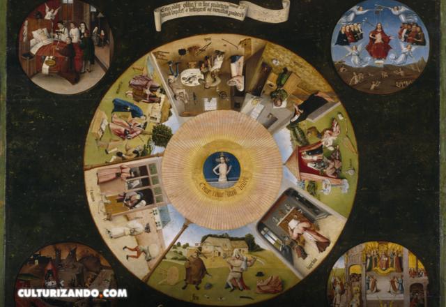 El Bosco Mesa de los pecados capitales