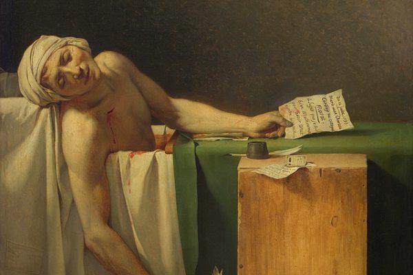 'La muerte de Marat', una obra que plasma la realidad social de la Revolución Francesa