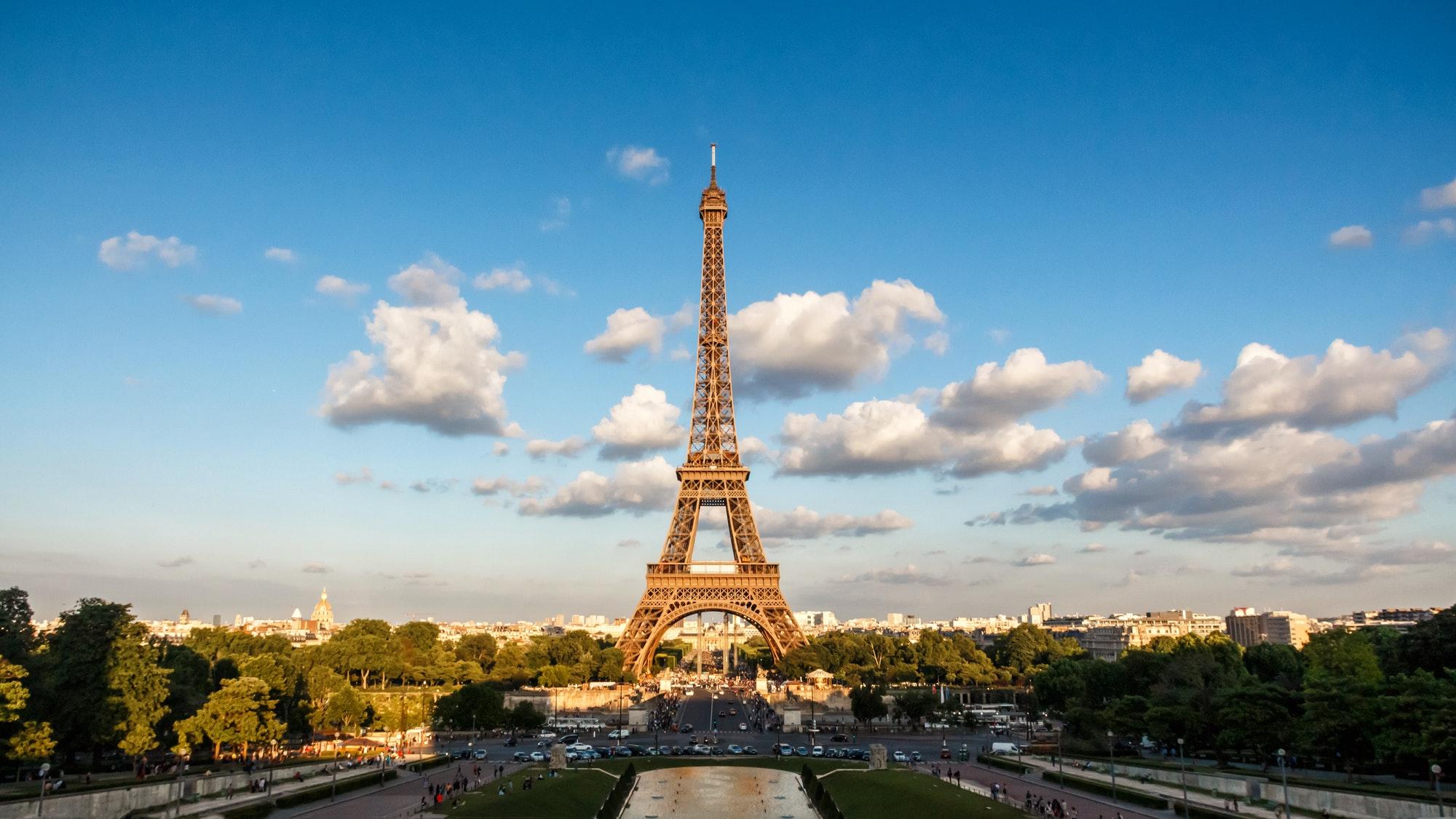 The Eiffel Tower, landmark of Paris, France