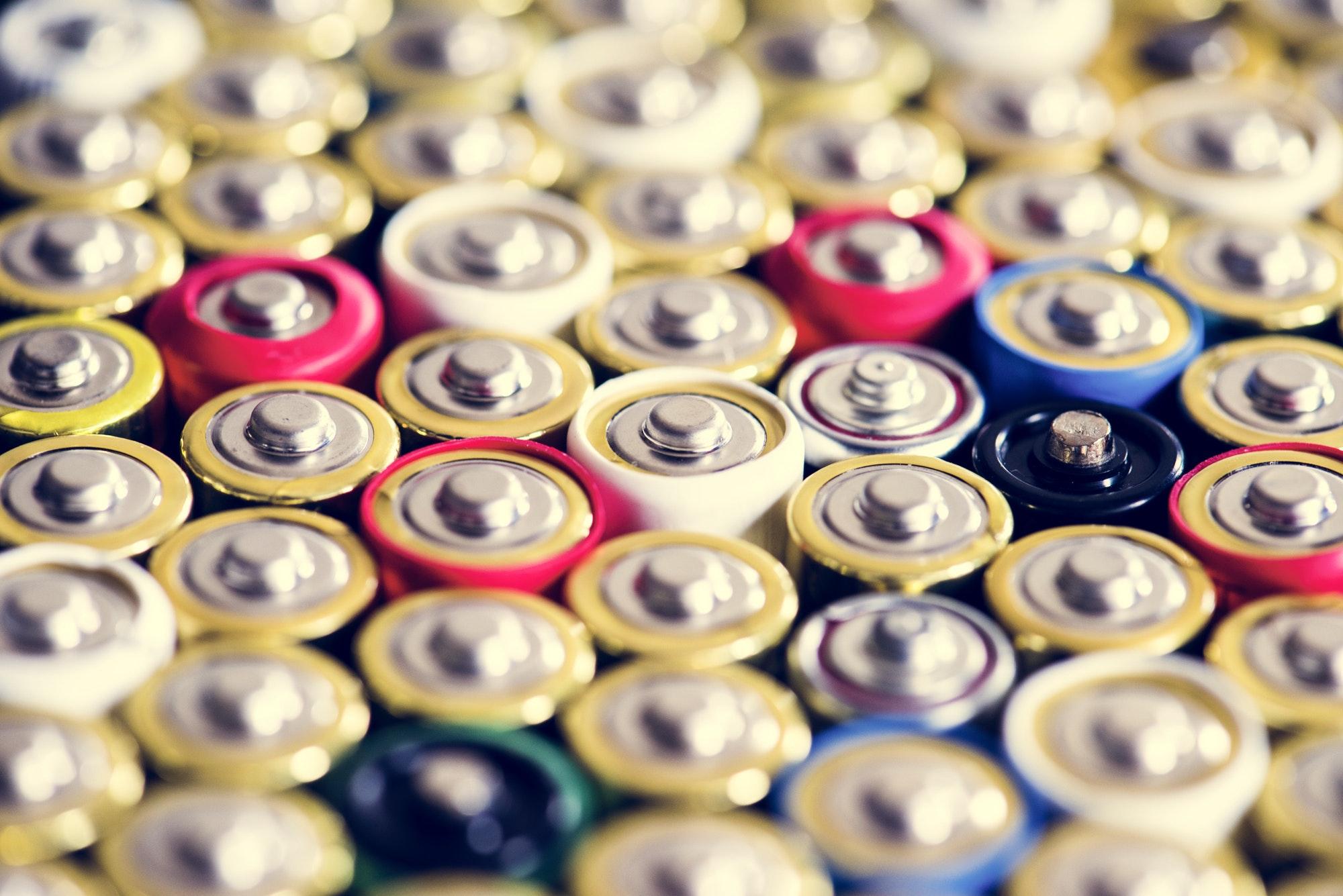 Alkaline battery background