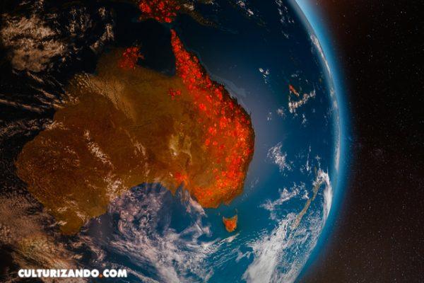 «Sueños en cenizas» imágenes de incendios en Australia desde la EEI