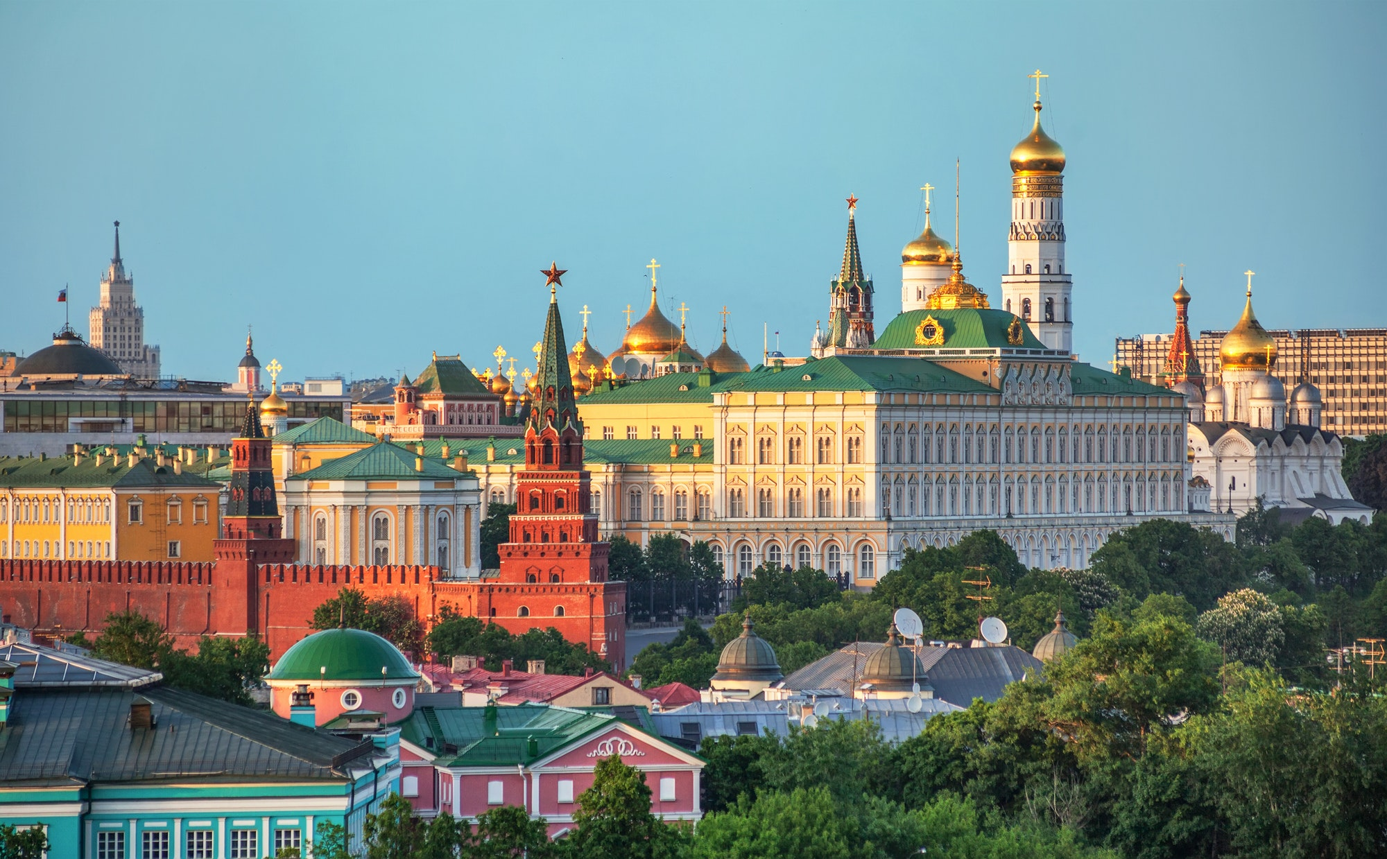 View of the Kremlin in Moscow, Russia