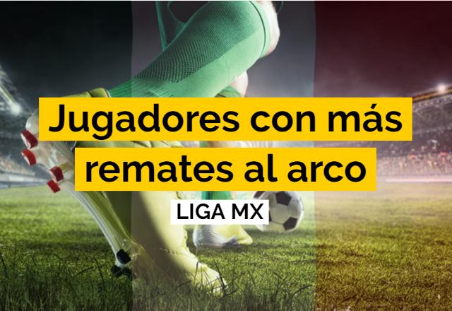 JUGADORES CON MAS REMATE AL ARCO LIGA MX