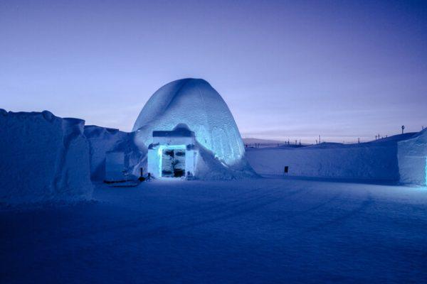 IceHotel: un hotel hecho completamente de hielo